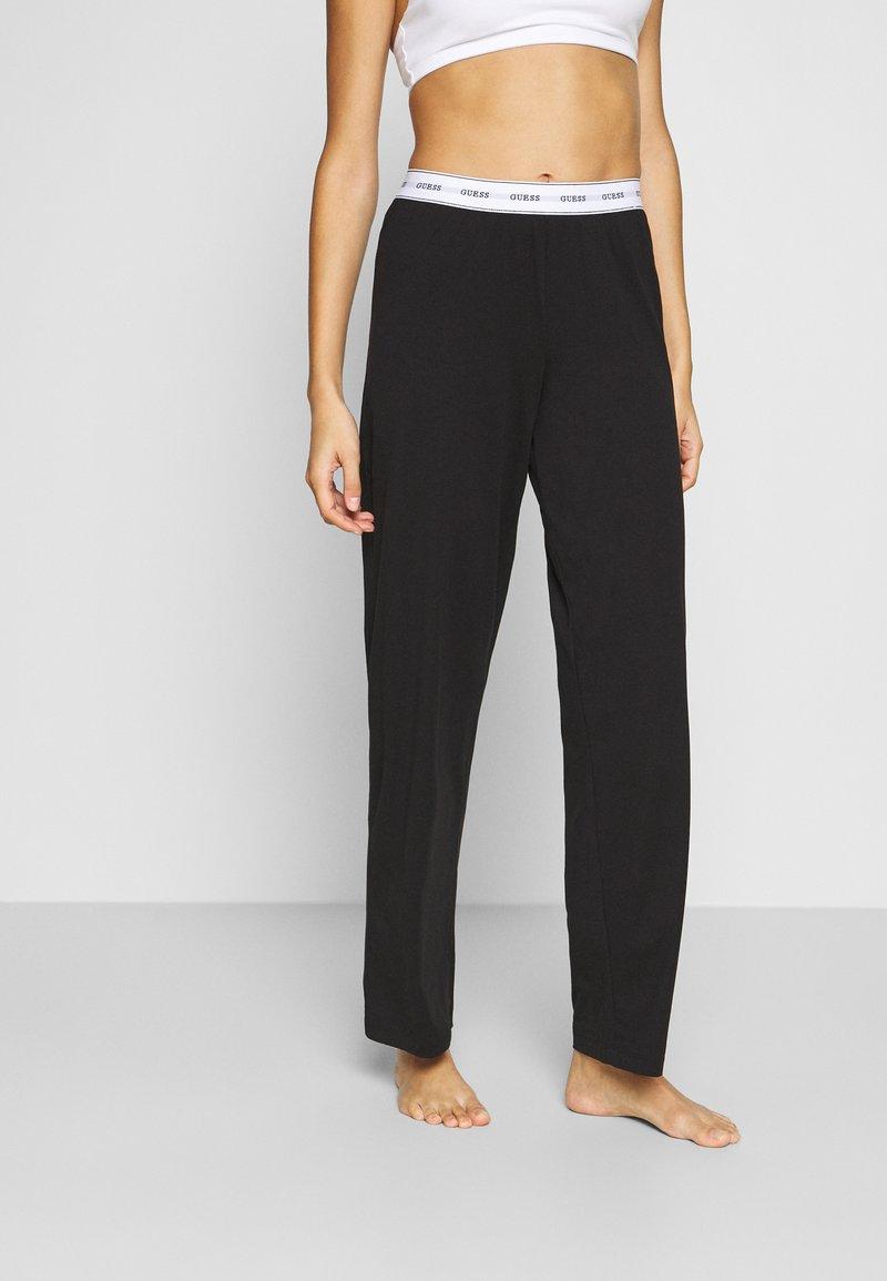 Guess - LONG PANT - Pyjama bottoms - jet black