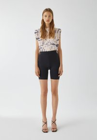 PULL&BEAR - Shorts - mottled black - 1