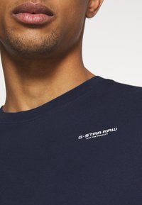 G-Star - TEXT SLIM - Printtipaita - sartho blue - 5