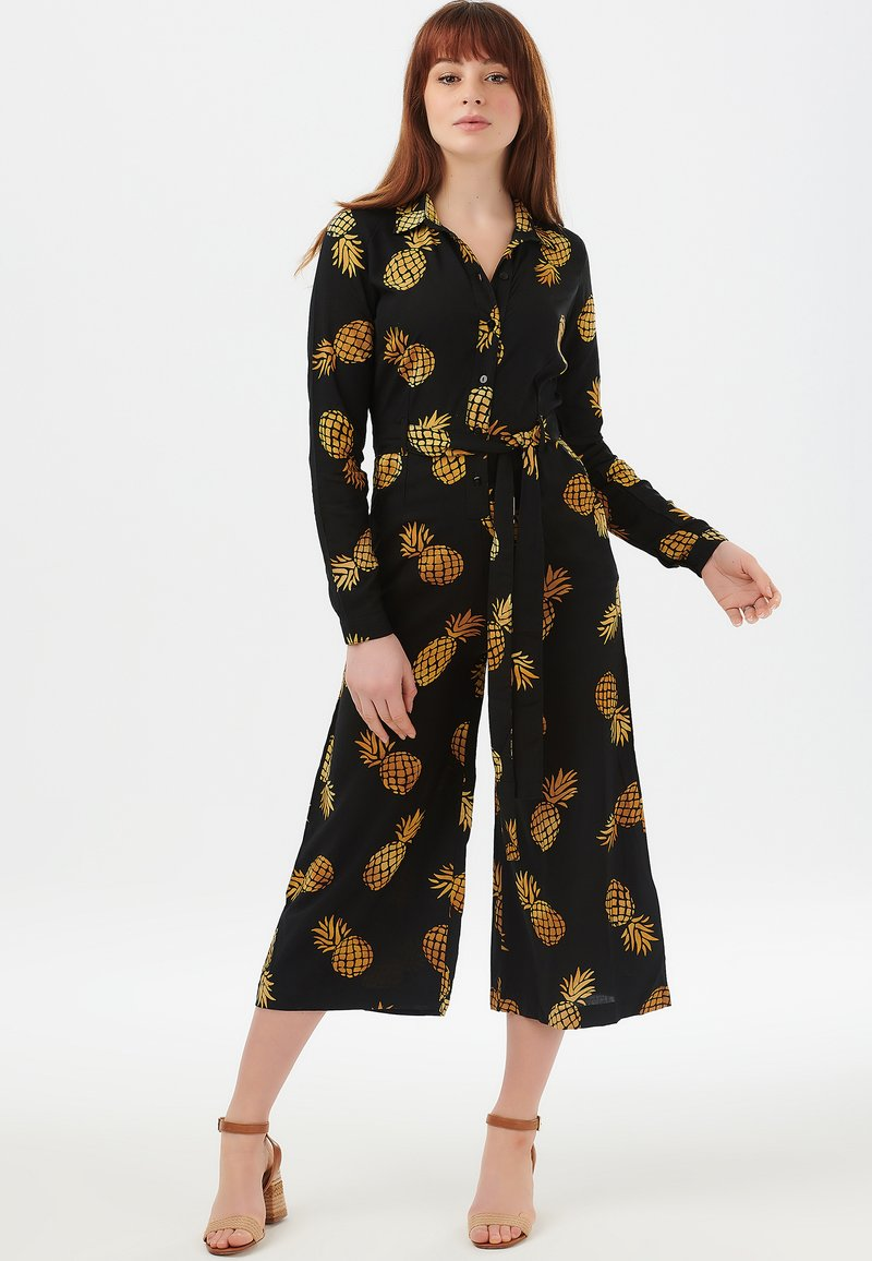 Sugarhill Brighton - SIENNA PINEAPPLE BATIK - Jumpsuit - black
