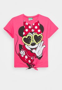 Benetton - T-shirt con stampa - pink - 0