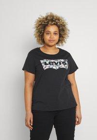 Levi's® Plus - PERFECT TEE - Print T-shirt - black - 0