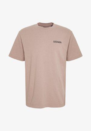 NO TOMORROW RETRO FIT TEE - T-shirts med print - sand