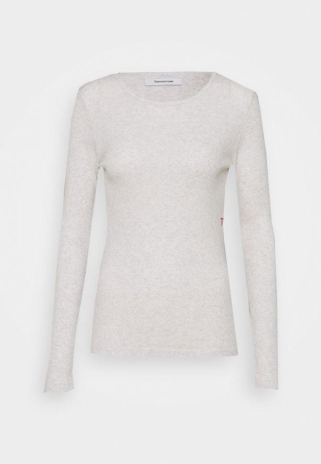 RINGO O NECK - Long sleeved top - creme