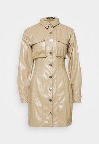 BUTTON FRONT UTILITY DRESS - Shirt dress - cream