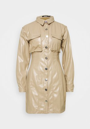 BUTTON FRONT UTILITY DRESS - Shirt dress - cream