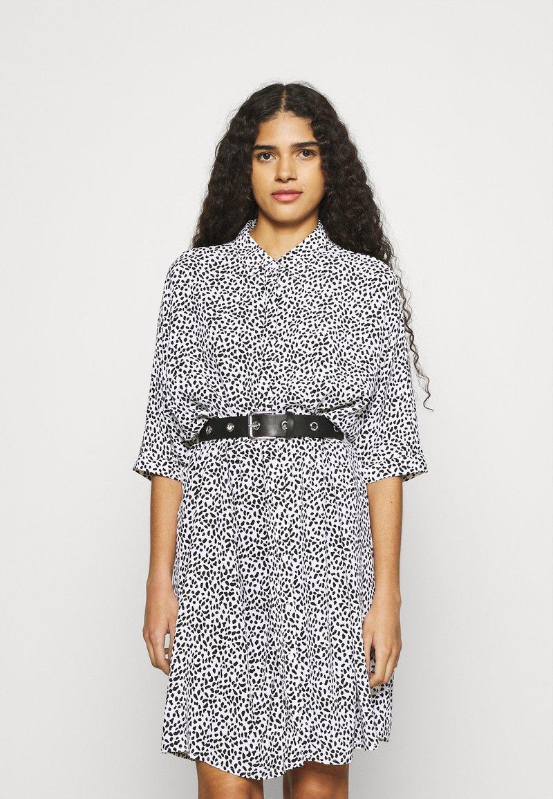 Zign - Shirt dress - white/black