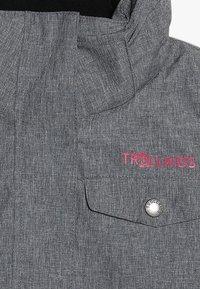 TrollKids - GIRLS HOVDEN JACKET - Ski jacket - grey melange/magenta - 3