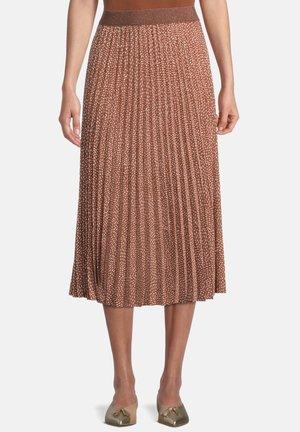 A-snit nederdel/ A-formede nederdele - brown/cream