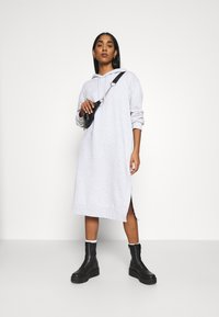 Weekday - MARCIE HOOD DRESS - Day dress - grey melange - 1