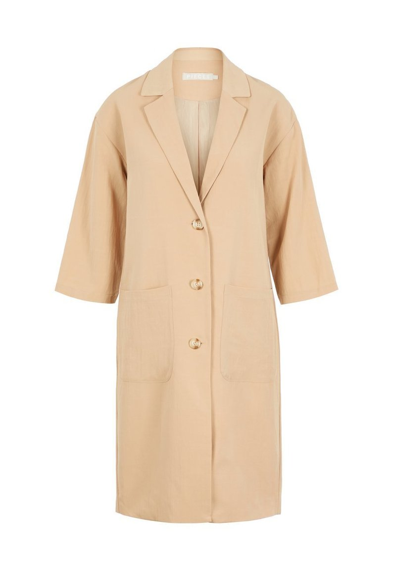 Pieces - Classic coat - Light Gray