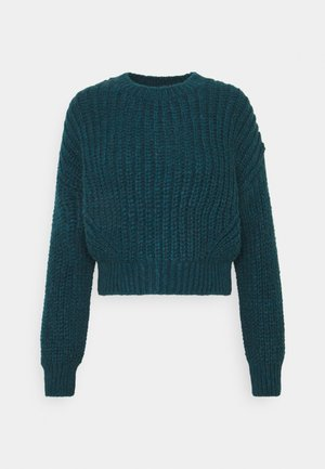 BALLOON SLEEVE JUMPER - Strikkegenser - blue coral