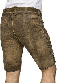 Stockerpoint - THOMAS - Kožené kalhoty - stein - 2