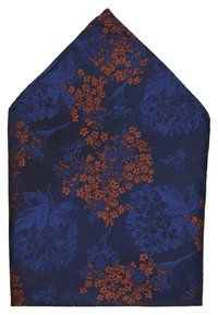Burton Menswear London - CHINA BOW TIE AND MATCHING POCKET SQUARE SET - Pocket square - navy - 5