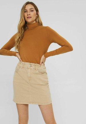PAPERBAG FIT HIGH RISE - Mini skirt - beige