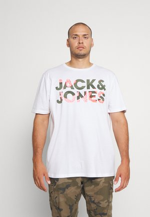 JJSOLDIER LOGO TEE CREW NECK - T-shirt imprimé - white