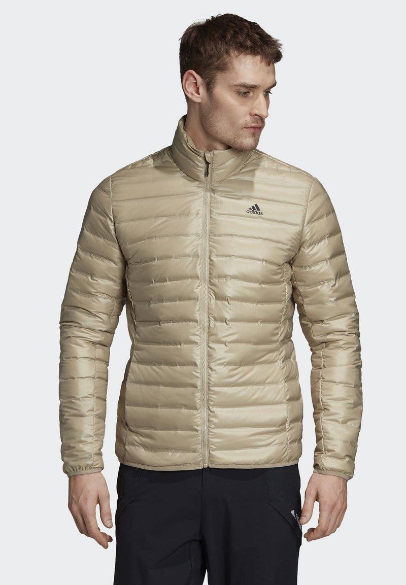 adidas Performance - VARILITE OUTDOOR DOWN - Down jacket - beige