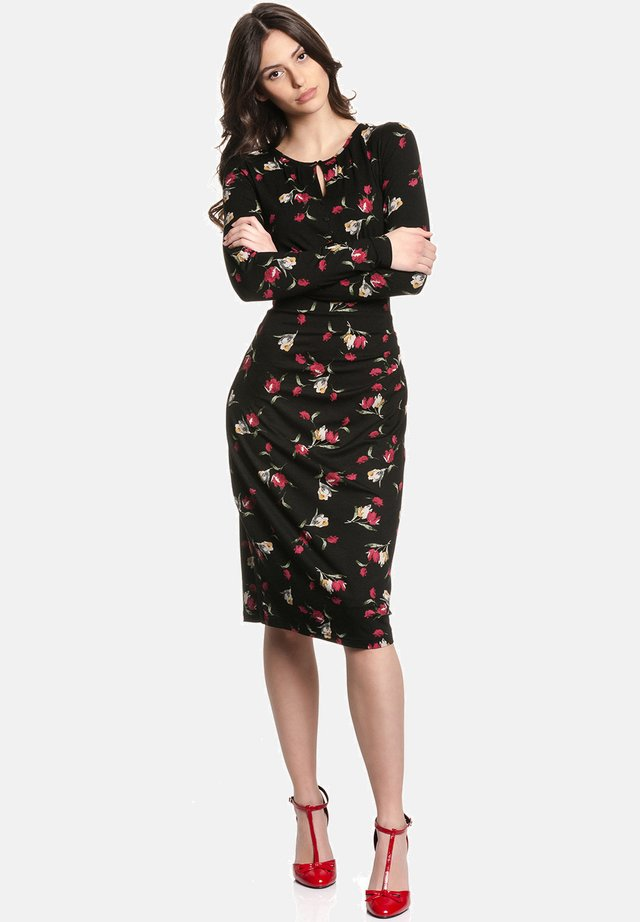 EVA S FLOWER - Day dress - schwarz allover
