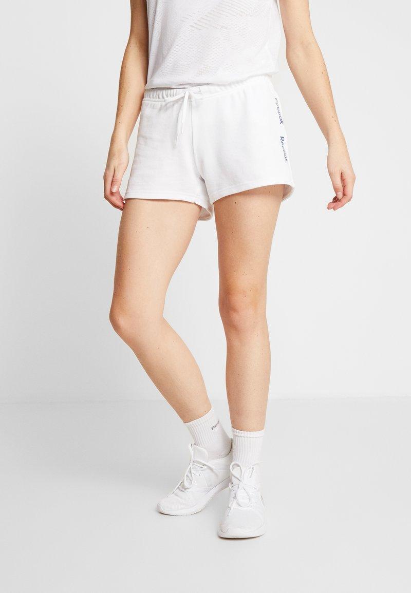 Reebok - LINEAR LOGO ELEMENTS SPORT SHORTS - Sports shorts - white