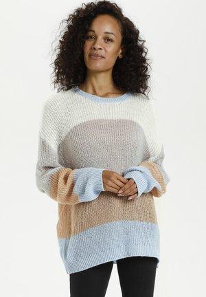 KATALIA  - Sweter - light grey, blue stripe