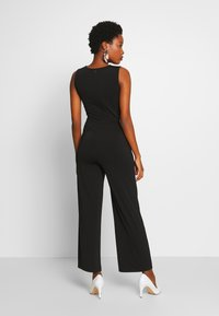 Anna Field - FRONT KNOT SOLID JUMPSUIT  - Mono - black - 2