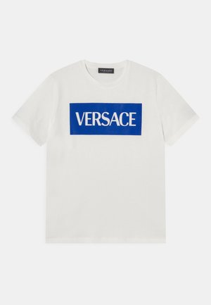 UNISEX - Print T-shirt - bianco/bluette