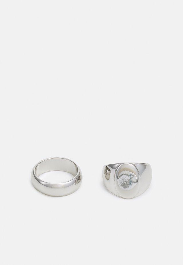 CLEAN SIGNET TWO PACK - Ringar - silver-coloured