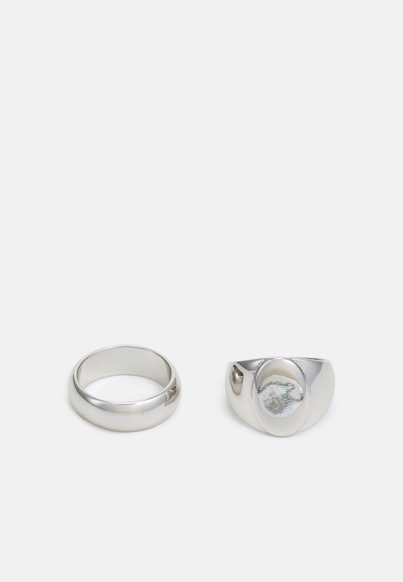 Topman - CLEAN SIGNET TWO PACK - Sormus - silver-coloured