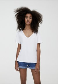 PULL&BEAR - T-shirt basic - white - 0