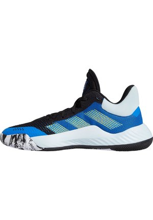 D.O.N. ISSUE 1 - Basketball shoes - core black / glow blue / show yellow