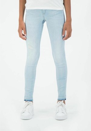 SARA - Slim fit jeans - bleached denim