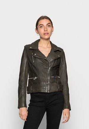 TASHA SF LABONV - Leather jacket - olive