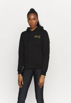 BASIC - Zip-up hoodie - black