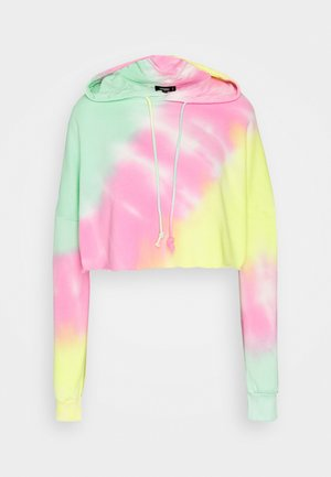 TIE DYE CROPPED OVERSIZE HOODIE - Hoodie - multi-coloured