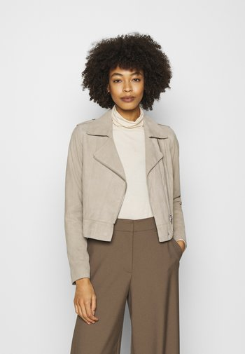 ZULINA  - Leather jacket - stone