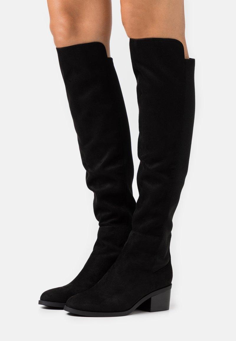 Steve Madden - GRAPHITE - Overknee laarzen - black