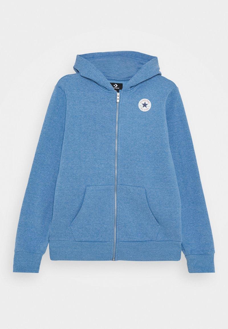 Converse - CHUCK PATCH FULL ZIP HOODIE  - Zip-up hoodie - coast heather