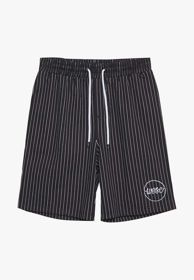 MARTY PINSTRIPE - Shorts - black