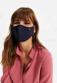 WE Fashion - Stoffen mondkapje - dark blue - 0
