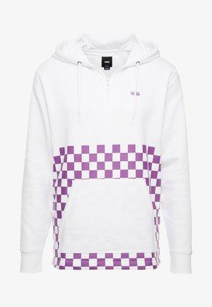 VERSA HOODIE - Bluza z kapturem - white/dewberry