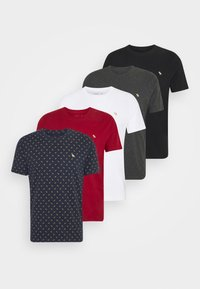 Abercrombie & Fitch - ICON CREW 5 PACK - T-shirt print - red - 9