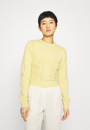 POINTELLE PUFF SLEEVE  - Jumper - blonde