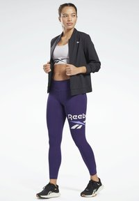 Reebok - COTTON ELEMENTS WORKOUT LEGGINGS - Leggings - purple - 1