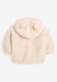Next - FLEECE HOODY - Fleece jacket - off-white - 1