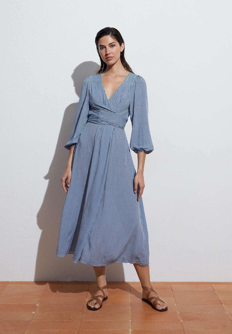 OYSHO - GINGHAM - Day dress - blue