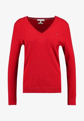 HERITAGE V NECK  - Jumper - apple red