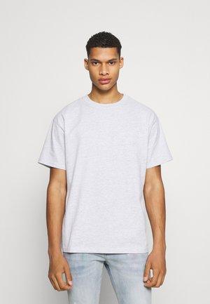 OVERSIZED - T-shirt print - grey marl