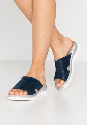 SLIDES - Sandaler - navy metallic