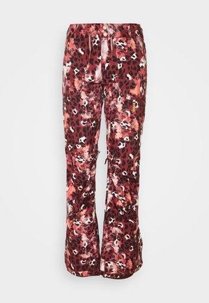 NADIA PRINTED - Spodnie narciarskie - oxblood red