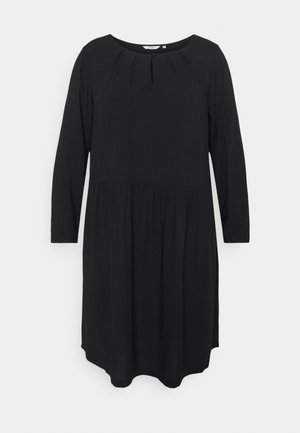 DRESS BLOUSE STYLE - Day dress - deep black